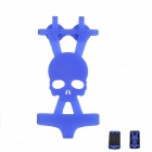 AYA-nf002 Creative Skull Pattern Bikini Style Silicone Adornment for Iphone - Blue