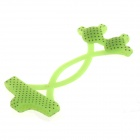 AYA-nf002 Lovely Dot Bikini Style Protective Silicone Cover Protector for Iphone 4 / 4S / 5 - Green