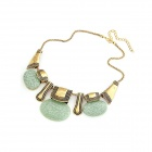 Vintage Bohemian Charming Zinc Alloy Women's Necklace - Bronze + Light Green
