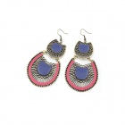 Fashionable Sector Style Zinc Alloy Women's Earrings - Multicolored (Pair)