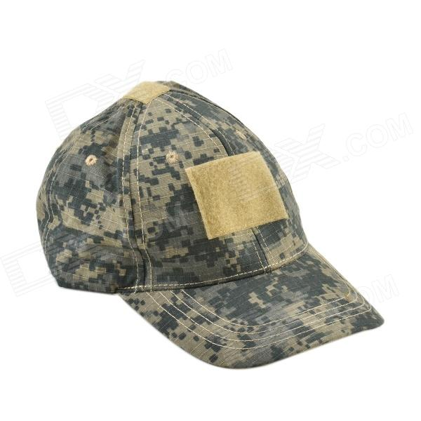 Outdoor Labeling Canvas Hat - Camouflage Blue