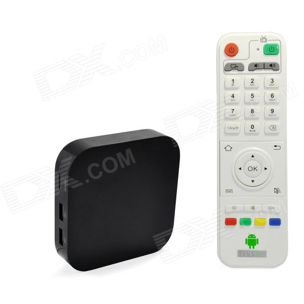 Ourspop OU86 Dual-Core Android 4.2.2 Google TV Player w/ 1GB RAM / 8GB ROM / Bluetooth - (EU Plug) ourspop mk809biii dual core rk3066 android 4 2 2 1gb ddr3 8gb nand flash tv box mini pc rc11 air mouse us plug
