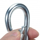 10# Steel Lock Carabiner Clip for Camping - Silver