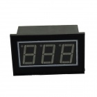 "Water Resistant 0.56"" 3-Digit Blue LED Voltmeter - Black (DC 4.5-150V)"