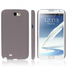 ENKAY Quicksand Style Protective Plastic Back Case for Samsung Galaxy Note 2 N7100 - Brown