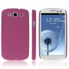 ENKAY Quicksand Style Protective Plastic Back Case for Samsung Galaxy S3 i9300 - Deep Pink