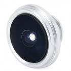 SKINA Universal 185' Wide Angle Fish-eye Magnetic / Clip Lens for Cellphone - Silver + White
