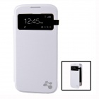 Wireless Charger Receiver Protective Case Cover w/ Visual Window for Samsung Galaxy S4 i9500 - White