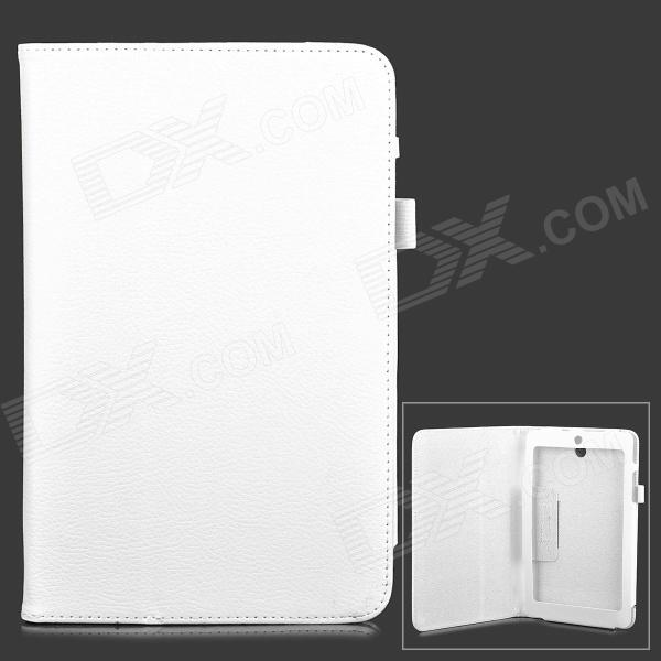 Classic Flip-open PU Leather Case w/ Holder for ASUS MeMO Pad 8.0 ME180A - White protective pu leather case w auto sleep for asus memo pad me102a 10 white