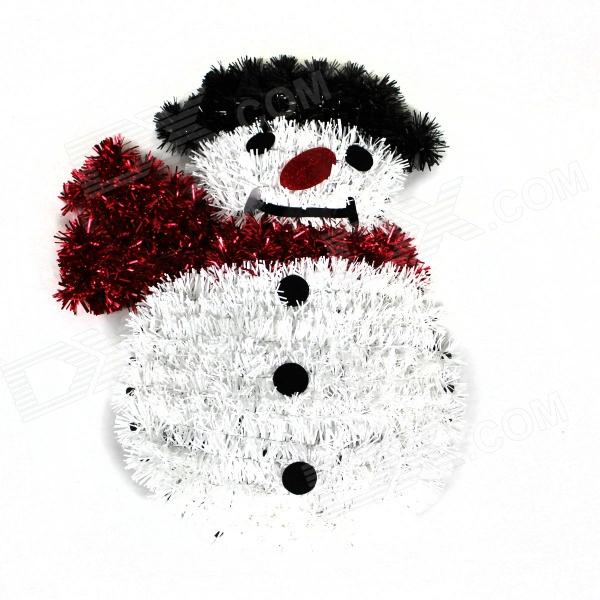 цена Christmas Snowman Madder Wall Decoration - White