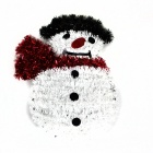 Christmas Snowman Madder Wall Decoration - White