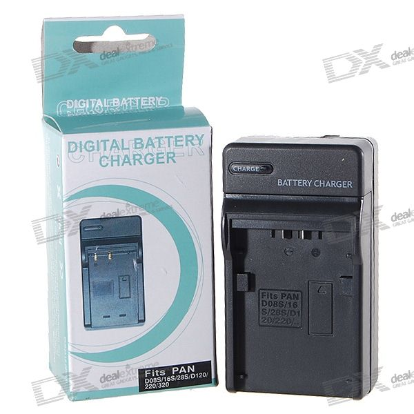 Camera Battery Charger for Panasonic D08S/D16S/D28S/D120/D220/D320 (100~240V)