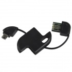 Mini Key Style USB a Micro USB Cable de carga para Samsung / HTC / Huawei / Blackberry - Negro