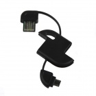 Mini  Key Style USB to Micro USB Charging Cable for Samsung / HTC / Huawei / Blackberry - Black
