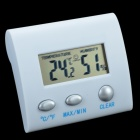 TL8025 2.0'' LCD Digital Hygro-Thermometer / Temperature & Humidity Gauge w/ Stand - White