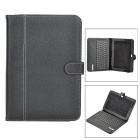 Bluetooth V3.0 84-key Detachable Keyboard w/  PU Leather Holder Case for Samsung Glaxy Tab N8000