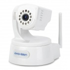 Amovision AM-CPT512 H.264 1/4 1.0MP CMOS IP Camera w/ P2P / TF Memory - White