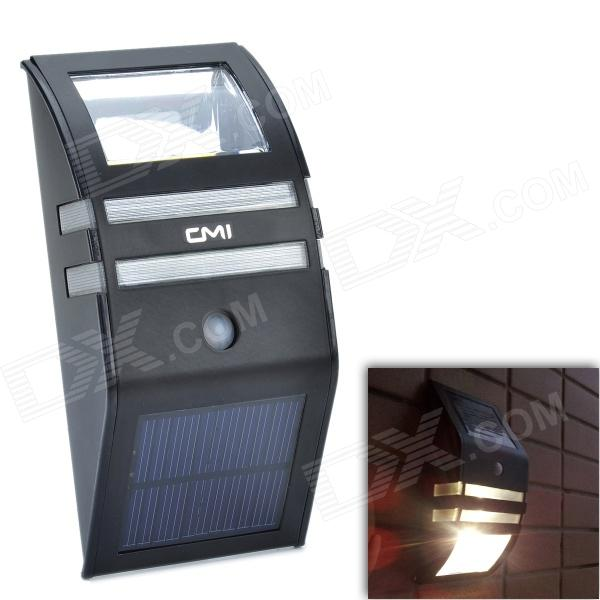 CMI LEH-44014BY 2-LED Yellow Light Solar Sensor PIR Motion Wall Mounted Light - Black 5pcs electric bicycle battery 12v rechargeable customized 12v 60ah lithium battery pack for ups led light solar street light