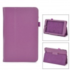 Classic Flip-open PU Leather Case w/ Holder for ASUS MeMO Pad 8.0 ME180A - Purple