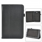 Classic Flip-open PU Leather Case w/ Holder for ASUS MeMO Pad 8.0 ME180A - Black