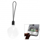 ZW 11B-2 Mini Portable Handy Outdoor 4X Acrylic Magnifier w/ Strap - Transparent + Black