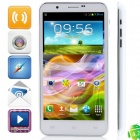 "9198 MTK6577 Dual-Core Android 4.1.1 WCDMA Bar Phone w / 5,7 ""HD, 1GB RAM, Wi-Fi, GPS - Weiß"
