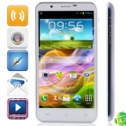 "9198 MTK6577 Dual-Core Android 4.1.1 WCDMA Phone w/ 5.7"" HD, 1GB RAM, 4GB ROM, GPS - White + Grey"