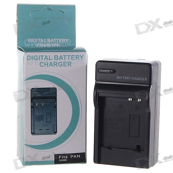 Camera Battery Charger for Panasonic S008E/BCE10/DB70 (100~240V)