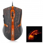 FC-5160 USB 2.0 Wired 3200 / 2400 / 1600 / 800dpi Optical Gaming Mouse - Black + Orange