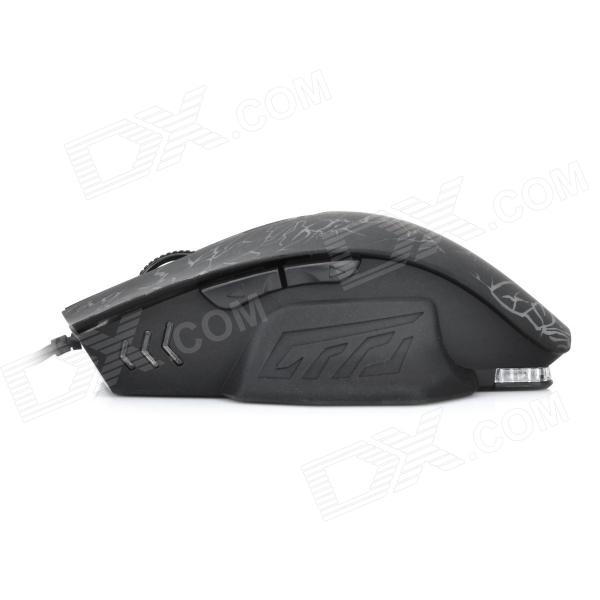 X3 USB Wired 2400dpi Gaming Mouse - Black