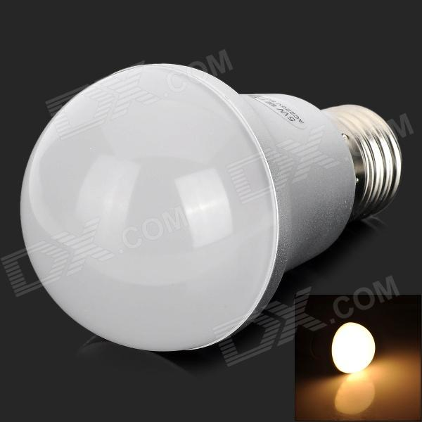 UItraFire 5W 400lm 3000K 25-3528 SMD LED Warm White Light Bulb Lamp - White + Silver (220V)