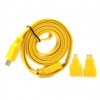 1080P HDMI Male to Male Extender Cable w/ Mini HDMI + Micro HDMI Adapters - Yellow