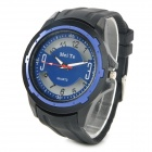 Sports Silicone Band Analog Quartz Wrist Watch - Blue + Black + White (1 x 377)