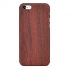 Wood Pattern Protective Plastic Back Case for Iphone 5C - Deep Brown