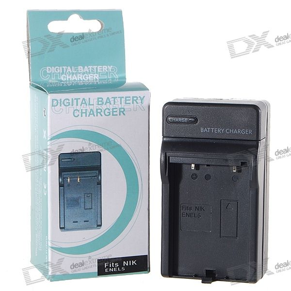 Camera Battery Charger for Nikon ENEL5 (100~240V) car ac digital camera travel battery charger for nikon en el15 black