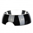 super Double Stainless Steel Slip-Resistant Dog Bowl - Black (Size XL)