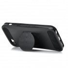 Protective Plastic + Silicone Back Case w/ Stand / Mirror for Iphone 5C - Black