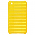 Mesh Protective PC Plastic Case for Iphone 3g / 3GS - Yellow