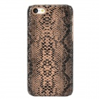 Snakeskin Pattern Protective Plastic Back Case for Iphone 5C - Black + Brown