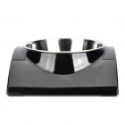super Double Stainless Steel Dog Cat Rainbow Bowl - Black (Size M)