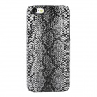 Snakeskin Pattern Protective Plastic Back Case for Iphone 5C - Black + White