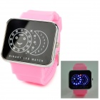 SKMEI 0982A Stars and Moon Pattern Digital LED Women's Cute Wrist Watch - Pink (1 x CR2025)