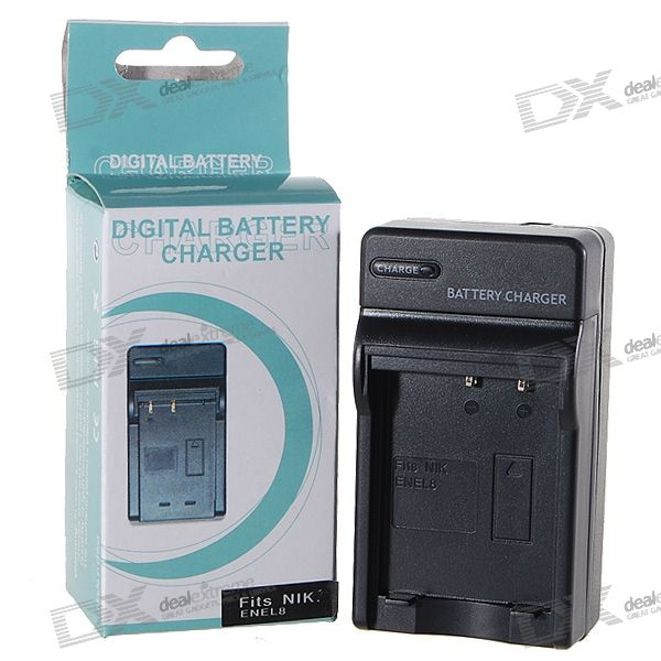 Camera Battery Charger for Nikon ENEL8 (100~240V)