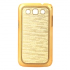 Meteor Shower Pattern Protective Plastic Back Case for Samsung i8552 - Golden