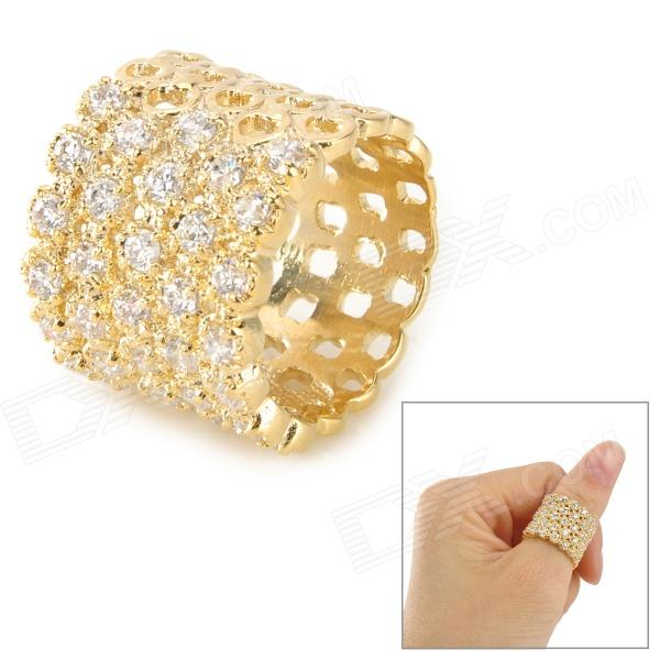 Fashionable 18K Gold-Plated Women's Ring - Golden