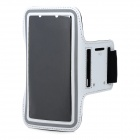 Protective Sport Neoprene + Elastic Cotton Armband for Samsung Note 3 N9000 + More - White + Black
