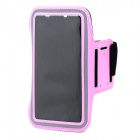 Protective Sport Neoprene + Elastic Cotton Armband for Samsung Note 3 N9000 + More - Pink + Black