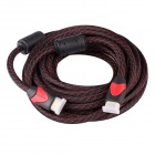 High Quality Universal HDMI Male to Male Connection Cable - Black + Red (500cm)