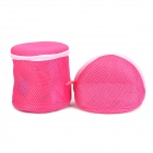 Dual-Layer Underwear Bra / Underpants Washing Bags Set - Deep Pink (Conical + Cylindrical)