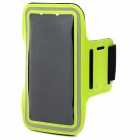 Protective Sport Neoprene + Elastic Cotton Armband for Samsung Note 3 N9000 + More - Green + Black